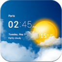 Transparent clock weather (Ad-free) Mod 3.00.00 Apk [Unlocked]